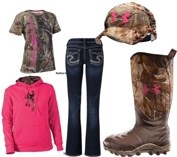 """Pretty cute! """"Camo and Pink"""" by emily-15 on Polyvore"""
