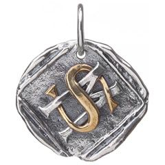 Waxing Poetic Custom Charm Intertwined Initials WPSF250