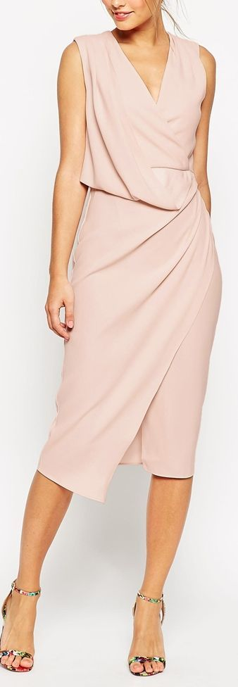 wrap draped dress