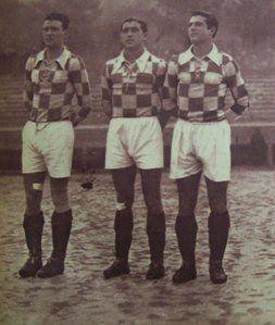 Fernando Caiado. Em 1946/47 jogando uma partida entre o Boavista FC e a Academica de Coimbra