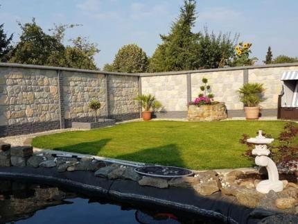 Betonzaun inkl montage und anlieferung in sachsen for Gartengestaltung dessau