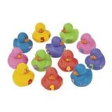 12 pc 1-2-3 Counting Learning to Count Rubber Duckie Ducky Ducks