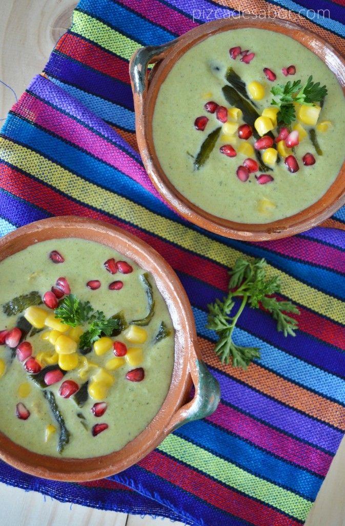 Crema de chile poblano www.pizcadesabor.com