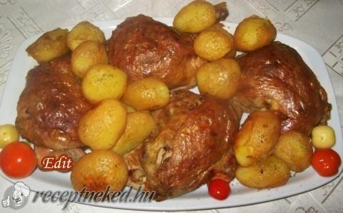 Csirkecomb gombás töltelékkel recept Vass Laszlone konyhájából ...
