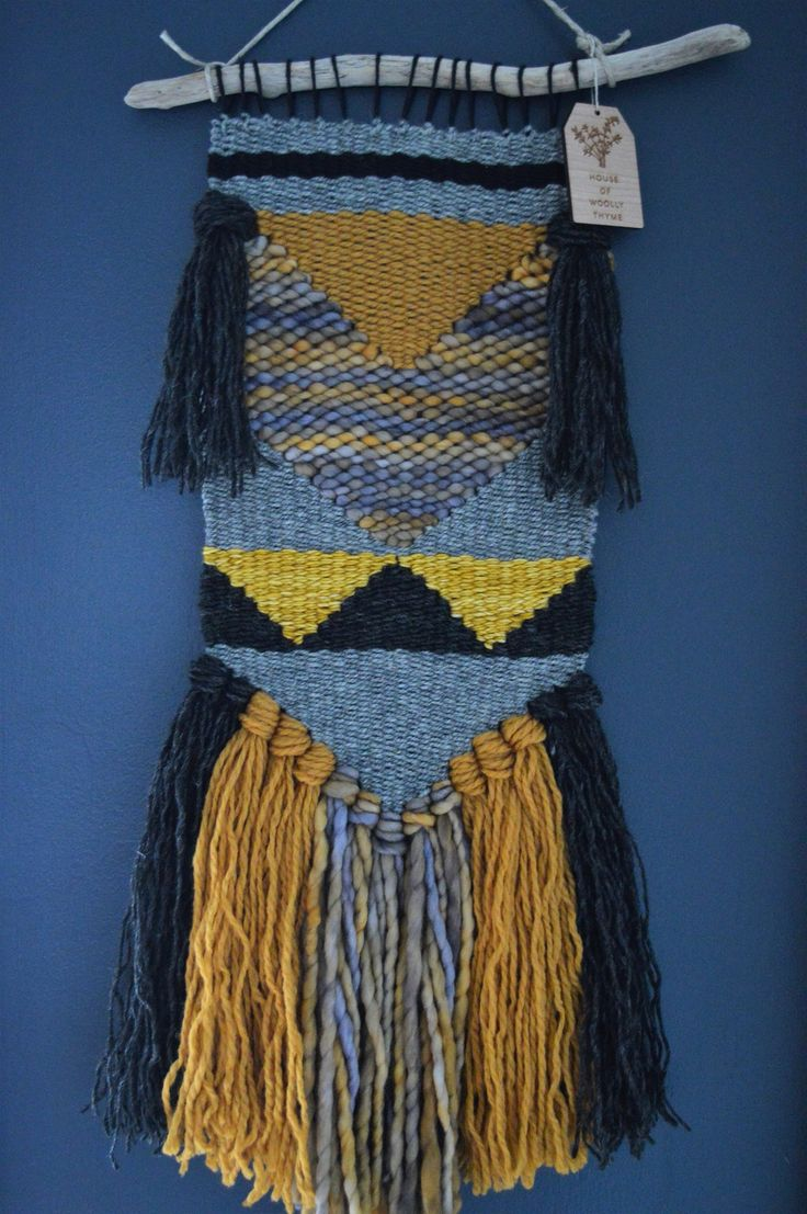 Arrows in greys and golds. Handwoven in Lunenburg. Woolly Thyme Weavings.