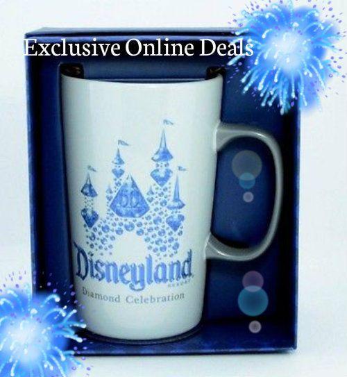 Disneyland Diamond 60th Celebration Starbuck Teacup Ceramic Coffee Cup Mug