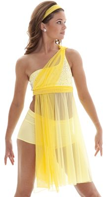 such a cute dance costume! Gorgeous yellow dress