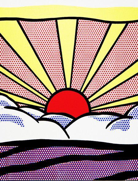 Roy Lichtenstein - Sunrise Wall mural inspiration.