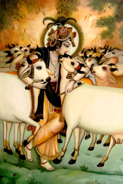 """O My Lord, Supreme God of the brahmanas, You are the well-wisher of the cows and the brähmanas. Dear Lord Krishna, You are the well-wisher of the entire human society and world and the beloved of the cows, who You love so much. Please accept my humble obeisances."" (Vishnu Purana 1.19.65)"