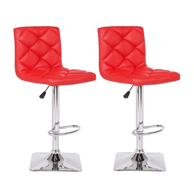 US Pride Furniture Rio Adjustable Swivel Bar Stool (Set of 2) (Black) (Faux Leather)  sc 1 st  Pinterest : red bar stool chairs - islam-shia.org