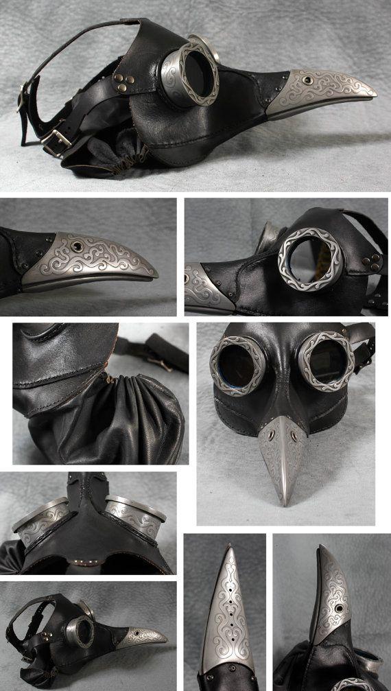 Doctor peste Steampunk máscara de negro Icabod por TomBanwell