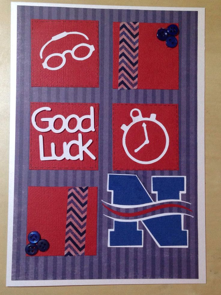 Good Luck Swimming Card My Card Creations Pinterest