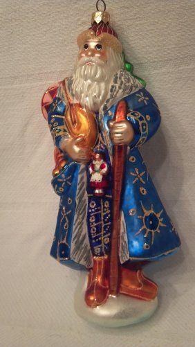 "Christopher Radko Ornament ""siberian Santa"""