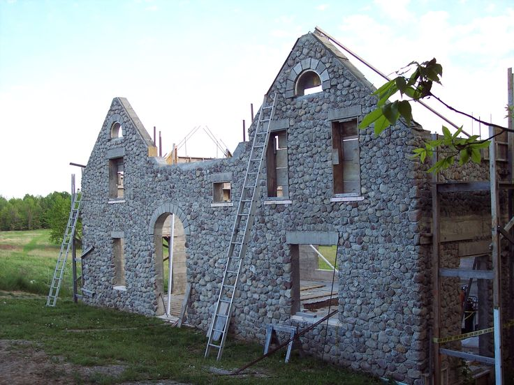 Diy slipform stone house