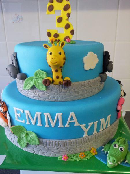 Foto van de week (week 43 2012): dierentuin taart gemaakt door PersonalTouch Cakes