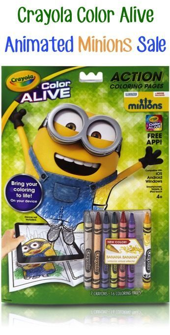 crayola color alive animated minions sale 429 so fun for the kids coloring pagescoloring - Color Alive Coloring Pages Minions