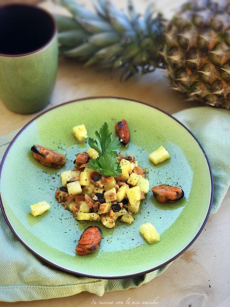 Tartare di ananas e cozze
