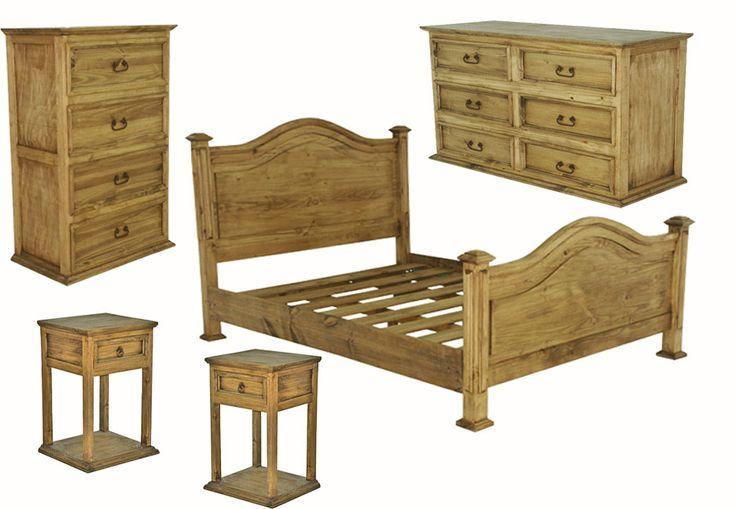 Sierra Leon Rustic Bedroom Furniture Set