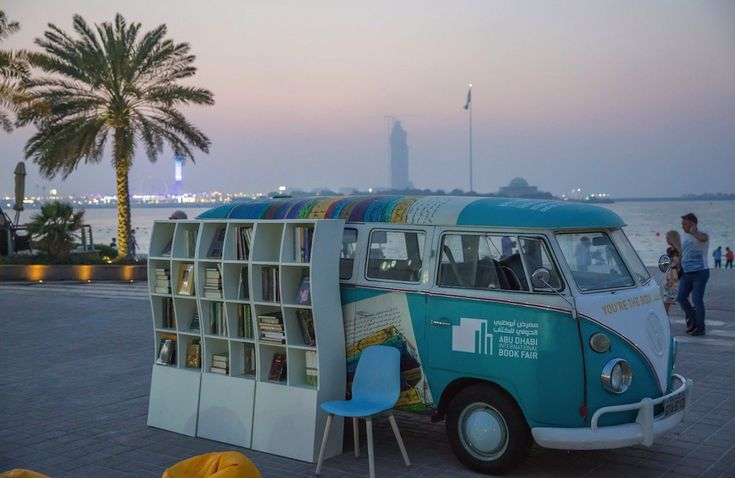Here is a mobile library of the Abu Dhabi Book Fair http://www.yourmiddleeast.com/columns/article/the-different-lives-of-mobile-libraries-and-bookshops-in-abu-dhabi-baghdad-and-cairo_46598 #bookmobile