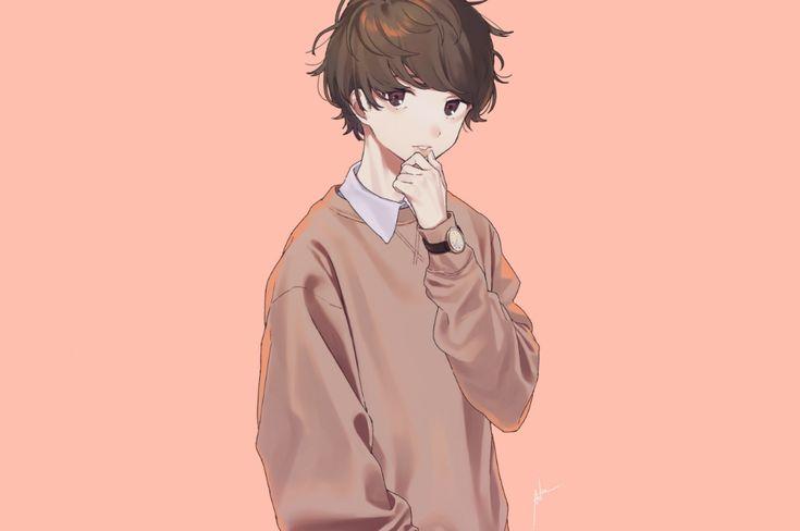 Download 2560x1700 anime boy pretty cute brown hair