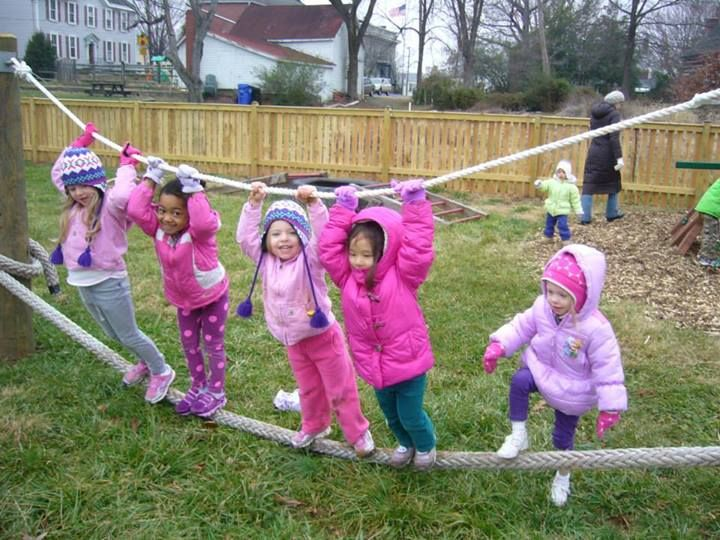 """I love this rope-balancing at 'Discovery Early Learning Center' ("""",)"""
