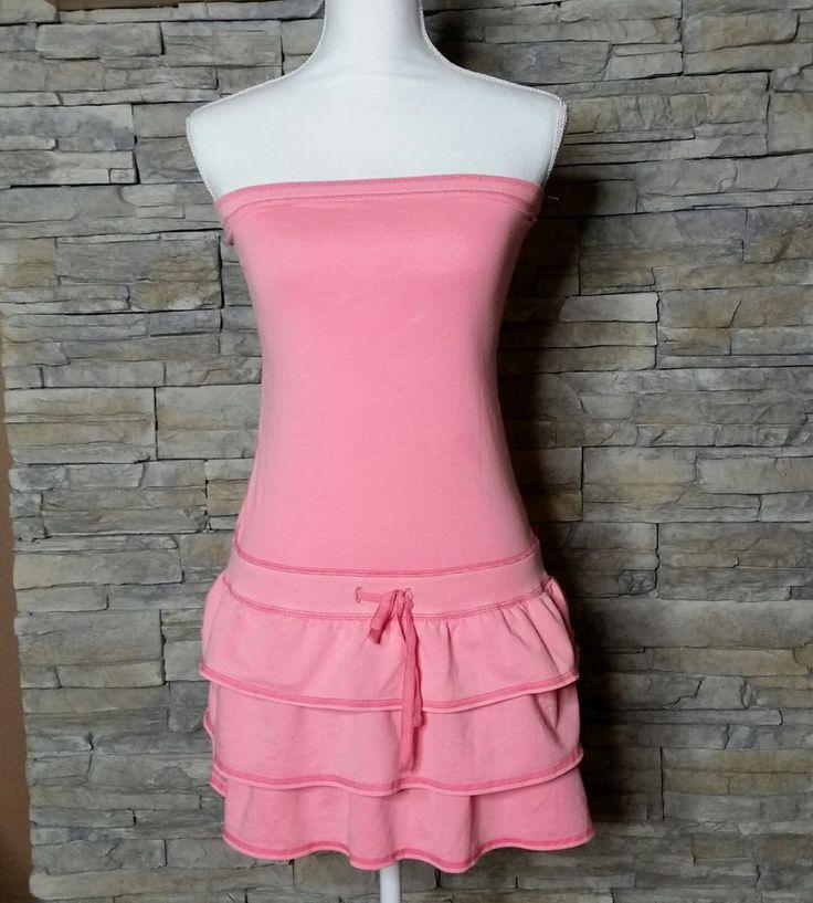 PINK Victoria's Secret Sleeveless Ruffled Dress S #VictoriasSecret #BeachDress #SummerBeach