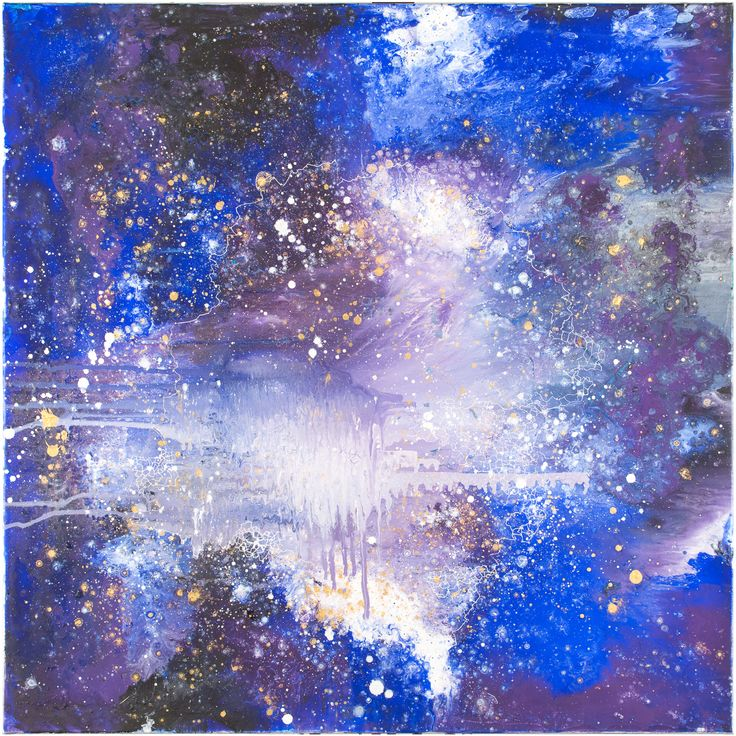 "Abstract art - ""SUPERNOVA"" oil on canvas, space art, modern art, interior design"