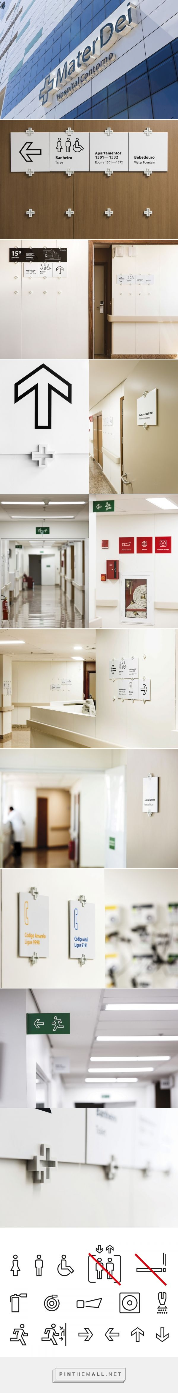 Sinalização Hospital Mater Dei Contorno |  Greco Design - created via https://pinthemall.net