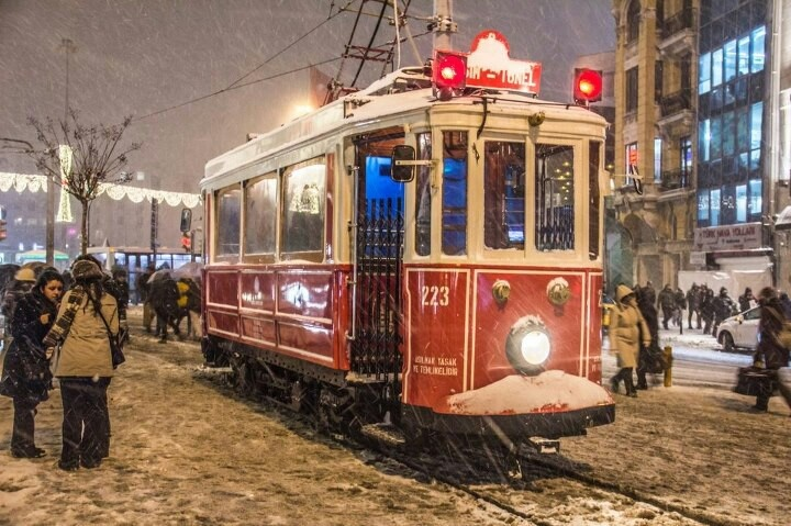 The tram of Taksim