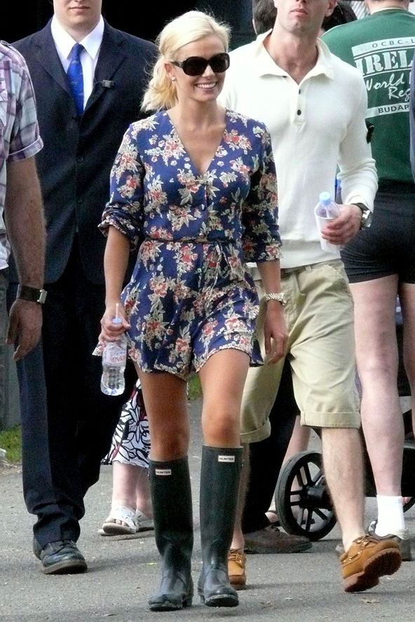 Katherine Jenkins looking lovely in Hunter Boots at The Henley Festival