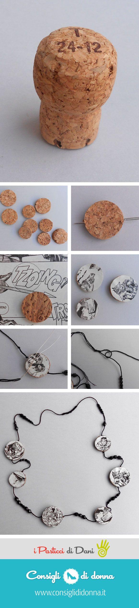 comics necklace
