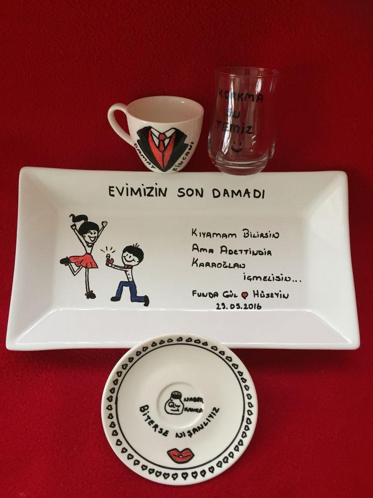 Damat fincanı söz nişan ,kız isteme, süslü fincan,tuzlu kahve, damat fincanı süsleme, www.instagram.com/meleknine