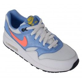 musthave Nike Air Max 1 (GS) (wit - licht blauw - oranje)