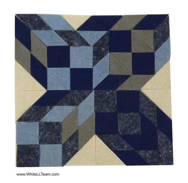 Blue Cubes-X Felt-Op-Art