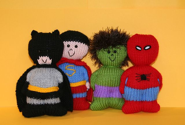 Chubbies Super Heroes (superheroes) pattern by Amalia Samios Afghan crochet...