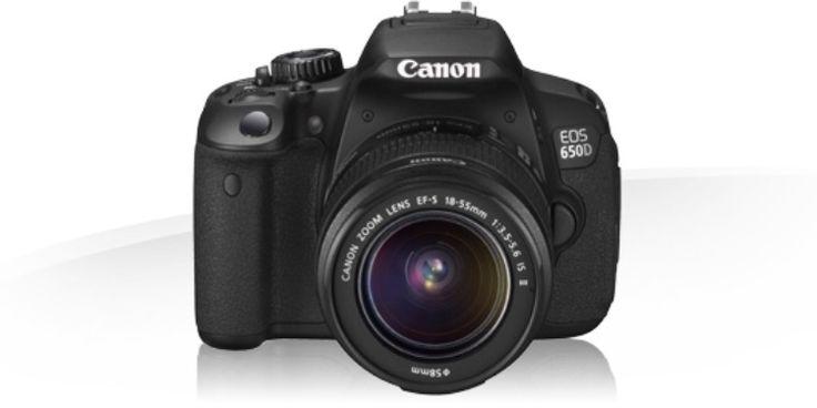 Appareil photo reflex de la marque Canon, modèle EOS 650D.• Capteur CMOS 18 Mpx, APS-C (x1,6) / 5,5 Mpx/cm• Objectif EFS 18-55mm• Stabilisateur d'images• Sensibilité : 100 - 128000 ISO ext. 121mm• Écran LCD tactile multi touch monté sur rotule• Non étanche • Poids : 551g• Dimensions : 100000 x 133000 x 80000 mm • Mode vidéo HD 1920 x 1080 pixels, 25 i/s, stéréo