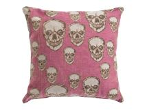 Hendrix Large Skull Pattern Scatter Cushion 50 x 50cm, Pink #letscolour