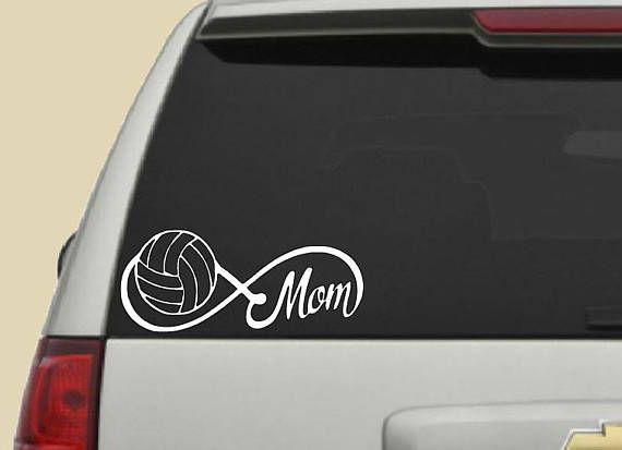 Set Of 2 Volleyball Mom Decal Car Decal Infinity Decal Window Decal Vinyl Decal Car Window Decal Sports D Car Decals Vinyl Car Decals Sports Decals