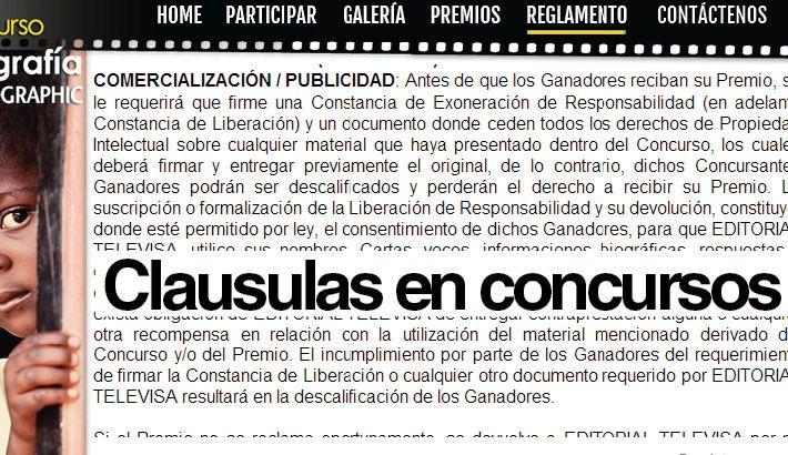 Clausulas en concursos fotográficos | Cajaforzada estudio