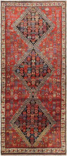 "KEIVAN WOVEN ARTS,   Type :Karabagh Origin :Caucasus  Size : 3'9""x8'10""  Circa :1910"