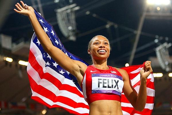 Allyson Felix wins Gold in 200m