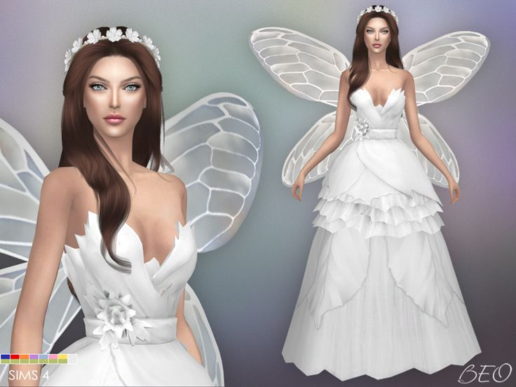 Wedding dress - Fairy for The Sims 4 by BEO