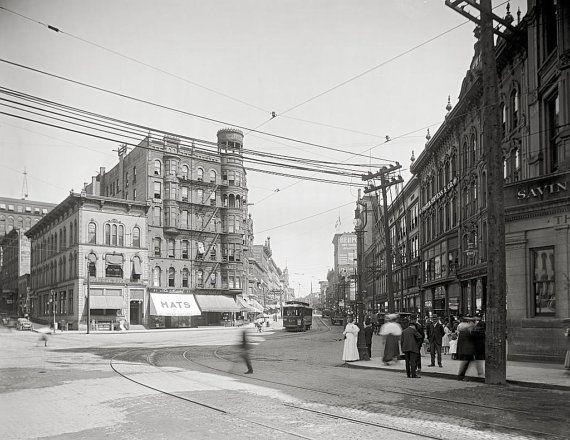 Grand Rapids Michigan year 1900.Monroe Street Grand by Chromatone