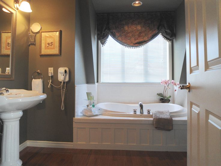 Create Photo Gallery For Website Spa inspired bathroom with person soaker tub and glass enclosed shower