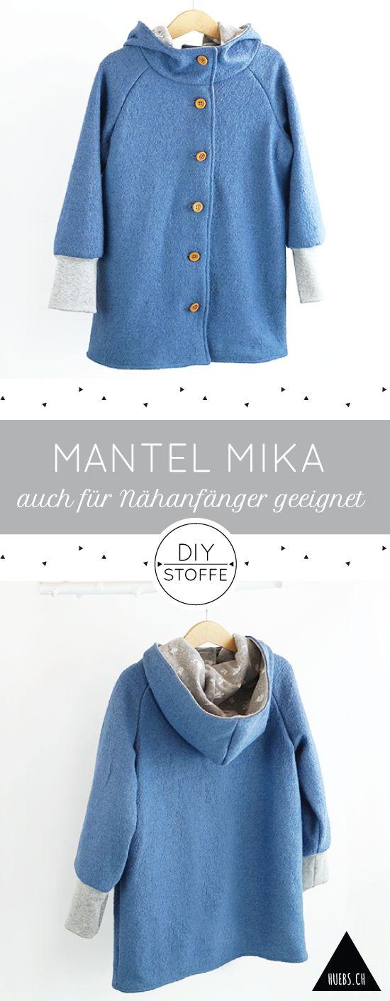 Mantel Mika 2.0 - ein tolles Projekt auch für Nähanfänger - Die Anleitung und Schnittmuster findet Ihr bei diy-stoffe.de.