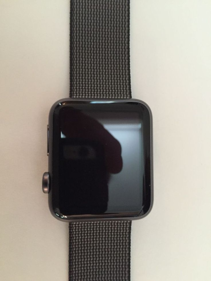 Apple Watch Sport 42mm Space Gray Aluminum Case Black Classic Buckle (MMFR2LL/A) #Apple