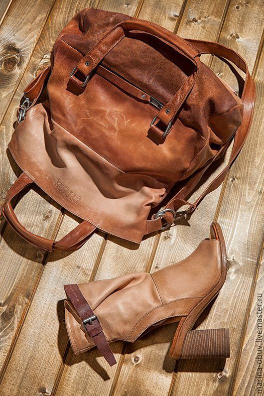 Обувь ручной работы. Ярмарка Мастеров - ручная работа. Купить Боссоножки кожаные тип полусапожки летние. Handmade. Женская обувь