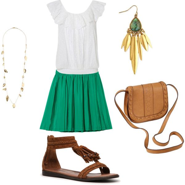 Flirty summer work outfit, created by suninmo on Polyvore