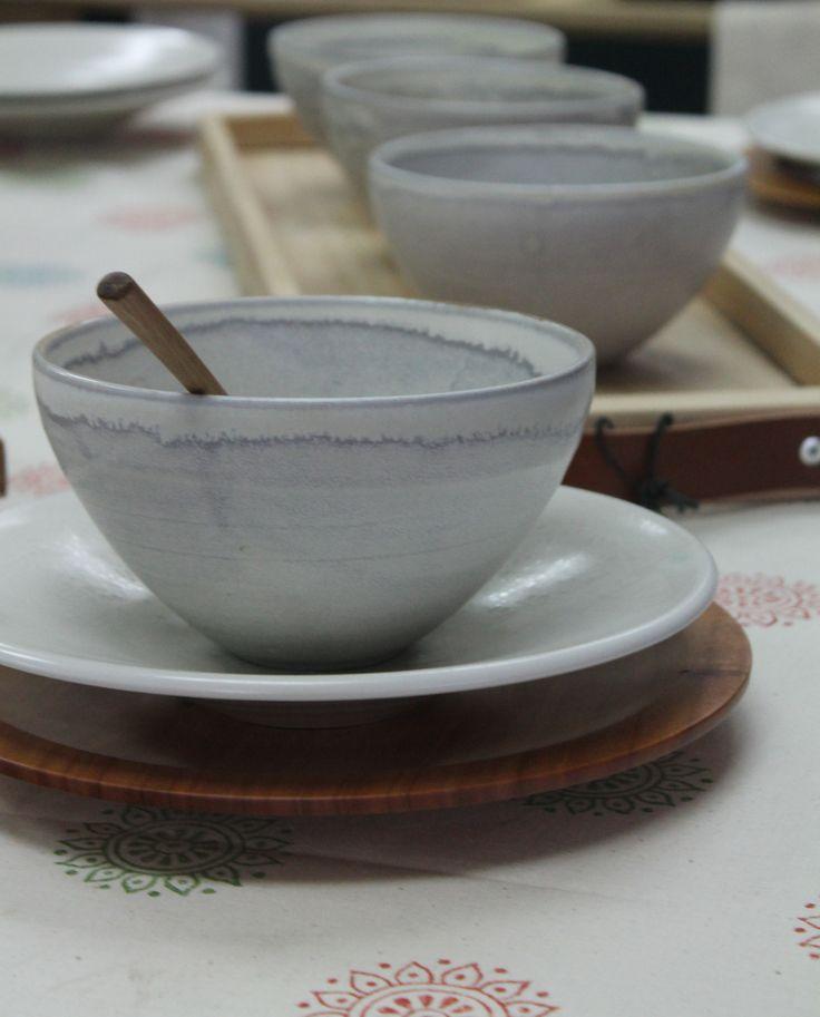 Honey glazed soup bowls by Kim Morgan.