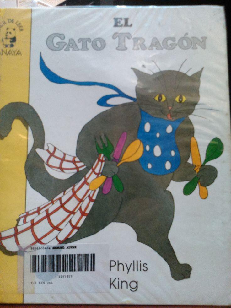 Esta es la historia de un gato muy tragón que se puso malito de tanto comer, 1 pescado, 2 patatas, 3 tomates...